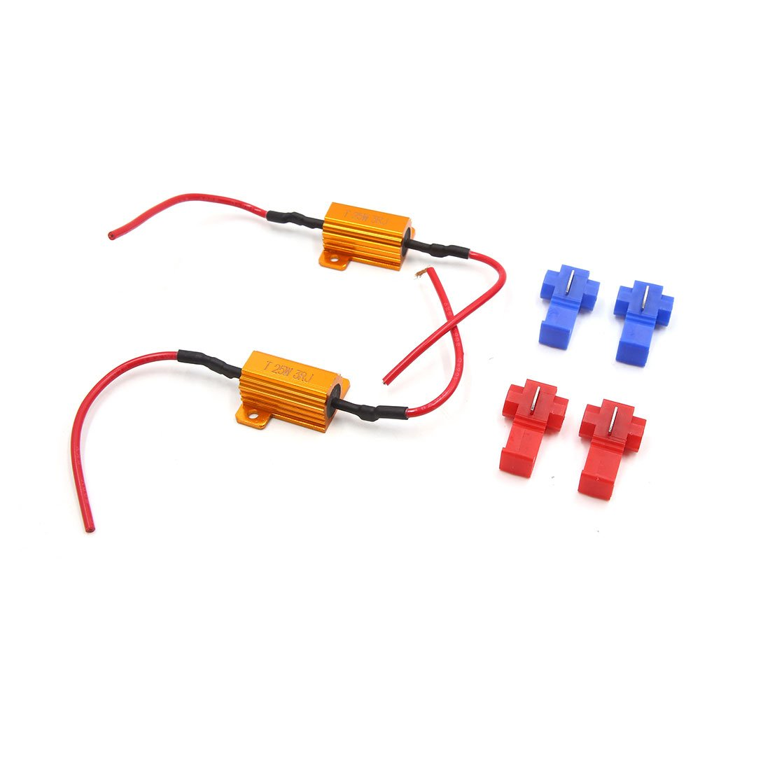 uxcell 2Pcs 25W 3RJ LED Headlight Canbus Decoder No Error Free Load Resistor for Car