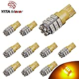 YITAMOTOR 10 X T10 42-SMD Car Backup Reverse Yellow LED Light Bulb W5W 2825 168 194 175 921 912