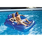 Inflatable Kickback Adjustable Swimming Pool Lounger for 2 People