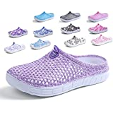 Peregrine Women's Mesh Breathable Sandal Quick-Drying Slippers Beach Slippers Non-Slip Garden Sandals Clogs Mules Shoes Purple 37