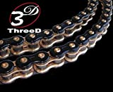 EK Motor Sport ''EK Chain 525 Z 3D Premium Chain - 120 Links - Black/Gold