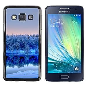 TopCaseStore / la caja del caucho duro de la cubierta de protección de la piel - Nature Winter White Lake - Samsung Galaxy A3 SM-A300