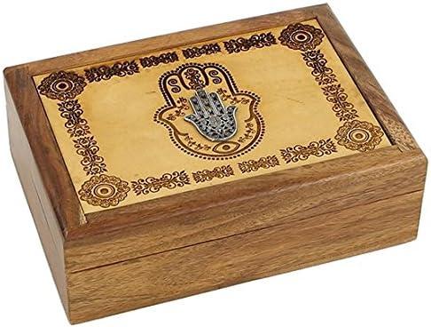 Pho Caja de Tarot de Fátima grabada a Mano 18 cm, Regalo de Recuerdo de joyería: Amazon.es: Hogar