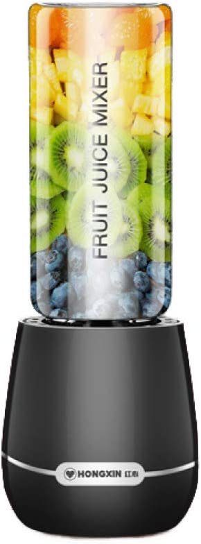 ERKEJI Batidoras de vaso Fabricante de batidos licuadora exprimidor portátil Mini con 4 cuchillas de acero inoxidable hermético 250ml perfecto para fruta leche ShAke papilla