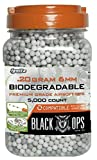 Black Ops .20 g Biodegradable Airsoft BBs - 5,000 Triple Polished Competition Grade 6mm BBs - Resealable - For All Airsoft Guns Pistols Rifles AEGs