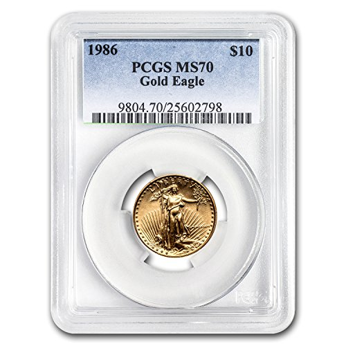 1986 1/4 oz Gold American Eagle MS-70 PCGS Gold MS-70 PCGS