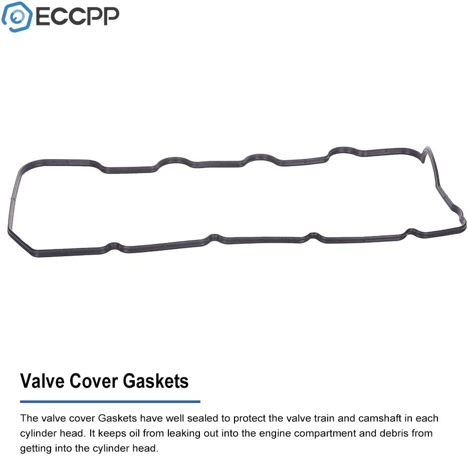 ECCPP Valve Cover with Valve Cover Gasket for 2003-2017 for TOYOTA Hiace Hilux 4Runner Compatible fit for Engine Valve Covers Kit