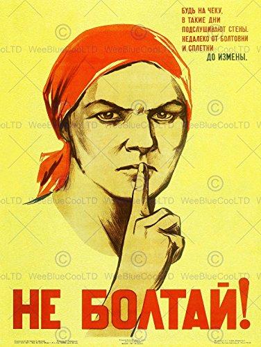 WAR PROPAGANDA WW2 SOVIET UNION GOSSIP VINTAGE RETRO ADVERTISING POSTER 2757PY - Russian Propaganda Poster