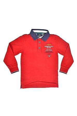 Aeronautica Militare Polo de Manga Larga DAVIDE para niños, Color ...