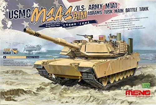 Meng TS-032 modelbouwset USMC AIM/U.S. Army M1A1 abrams TUSK Main Battle Tank E0JT2HTc