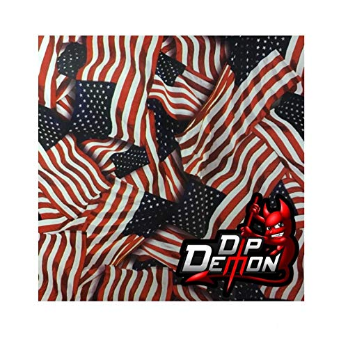 Metallic American Flag Garrison USA Hydrographic Water Transfer Film Hydro Dipping