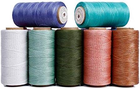 Vektenxi hilo de coser de algodón encerado, hecho a mano, de alta ...