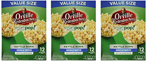 Orville Redenbacher Smart Pop Kettle Korn Mini Bags, 12-Count (Pack of 3)