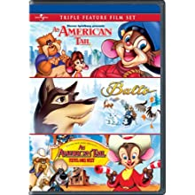 An American Tail / Balto / An American Tail: Fievel Goes West Triple Feature Film Set (1986)