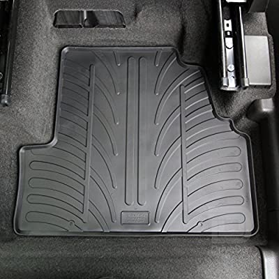 Gledring GLED-0745 Custom Tailored Fit Black All Weather Rubber Car Floor Mats