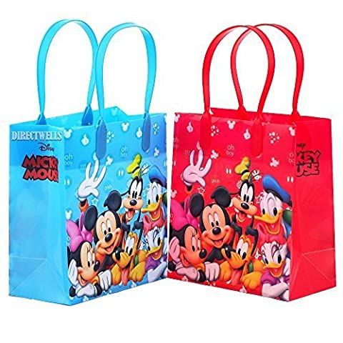 Disney Mickey Mouse and Friends Character 12 Premium Quality Party Favor Reusable Goodie Small Gift - Party Gift Bag