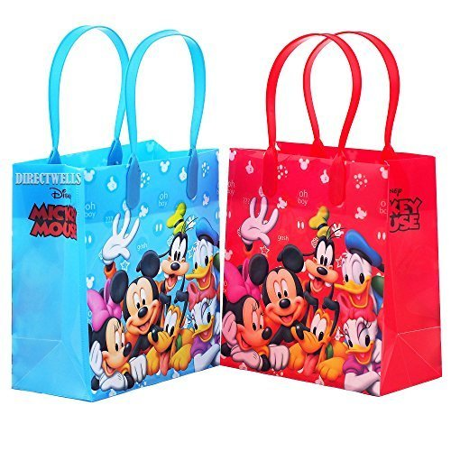 Disney Mickey Mouse and Friends Character 12 Premium Quality Party Favor Reusable Goodie Small Gift Bags - Disney Mickey Party