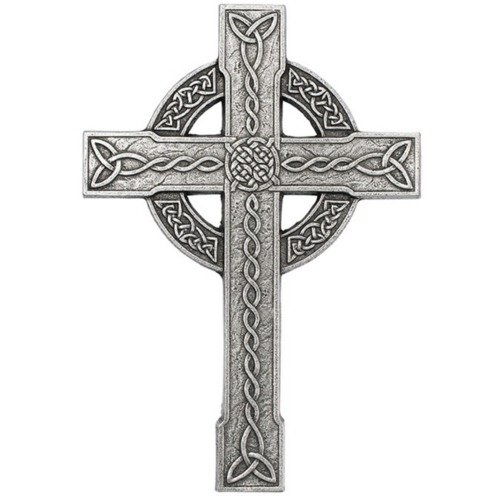"""Carson 12"""" x 8"""" Celtic Trinity Knot Aluminum Wall Cross"""