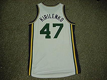 buy online 2283e ab9ce Andrei Kirilenko Utah Jazz 2010-11 Game Worn Home Jersey at ...