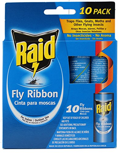 Raid Fly Ribbon Bug & Insect Catcher (10 Pack)