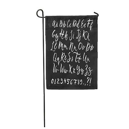 Amazon com : Semtomn Garden Flag ABC Calligraphic Script