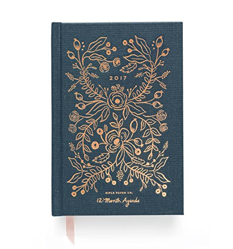Rifle Paper Co. Hardcover Midnight 2017 - 12 Month Agenda