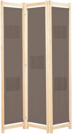 vidaXL Biombo Divisor de 3 Paneles de Tela Decoración Hogar Casa Jardín Bricolaje Salón Comedor Ambientes Habitaciones Separador 120x170x4 cm Marrón: Amazon.es: Hogar