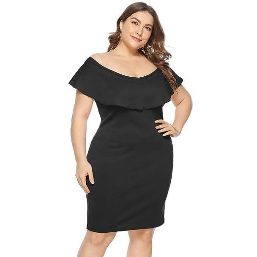 726c8a25efdd Amazon.com: kemilove Women's Sexy Plus Size Party Dress Sleeveless ...