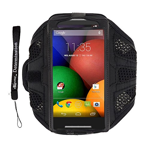 Black Mesh Sport Armband (Black Polyester Mesh Fabric Sport Armband For HTC ONE V X S 8X 8S / Samsung Galaxy S4 / S3 + eBigValue Determination Hand strap)