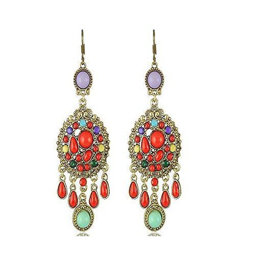 darkey-wang-womens-bohemian-ethnic-romantic-tassel-earringsred
