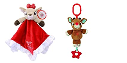 09d974576f Buy Rudolph On-The-Go Musical Toy and Babys First Christmas Blanket ...