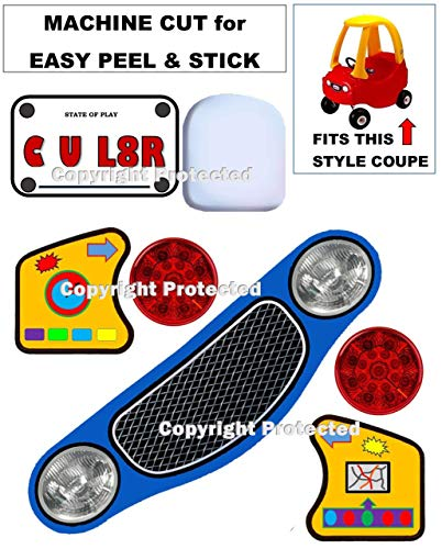 - Compatible Replacement Decals Stickers Labels FITS Little Tikes Cozy Coupe Ride On Toy