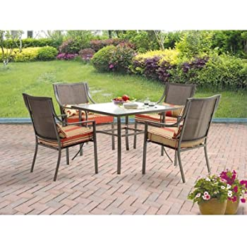 Amazoncom Gramercy Home 5 Piece Patio Dining Table Set Garden