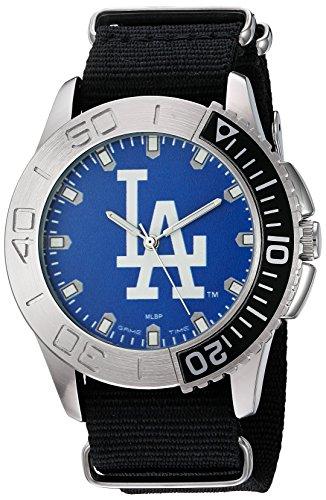 Game Time Men's 'Starter'  Metal and Nylon Quartz Analog Watch, Color:Black (Model: (Quartz Mlb Watch)