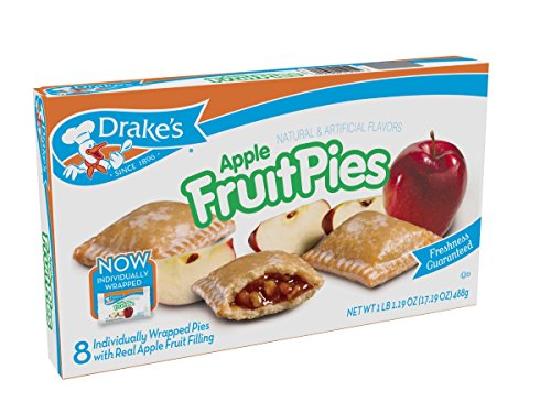 (Drake's By the Case! Apple Fruit Pies, Case of 12! Freshness)