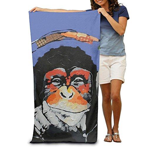 Phantom Of The Opera Monkey Music Box (Modern Gorilla Monkey Music Hand Towel Beach/Shower Towel Wrap, 31.5