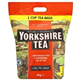 Yorkshire Tea Taylors Of Harrogate 1200 Tea Bags 3Kg - Pack Of 2