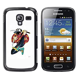 Planetar® ( Samurai Cartoon Music Hip Hop Dude ) Samsung Galaxy Ace 2 Fundas Cover Cubre Hard Case Cover