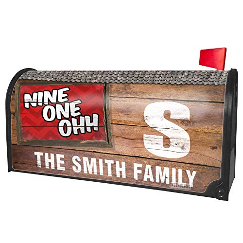 NEONBLOND Custom Mailbox Cover 910 Fayetteville, NC red -