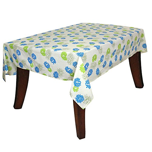 - ShalinIndia Rectangular Floral Printed Cotton Table Decor Accessories Indian Tablecloth 60X90 Inch