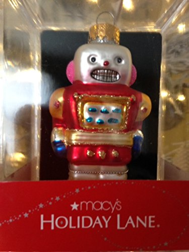 Macy's Holiday Lane Robot Glass 3