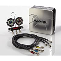 CPS Products MBH4P5EZ BlackMax 2V Manifold R-134A, 22, 404A, 410A Gauges & 5' Premium BV Hoses