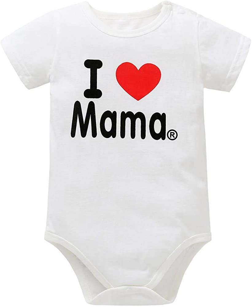 Woaills Kids Newborn Baby/Boys Girls/Lovely Bodysuit Heart Letter Print Rompers Jumpsuit Outfits Mom/&Dads Gift Clothes