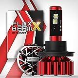 7 headlight bulb - OPT7 Fluxbeam X H13 9008 LED Headlight Bulbs w/Arc-Beam Lens - 8,400LM 6000K Daytime White - All Bulb Sizes - 80w - 2 Year Warranty