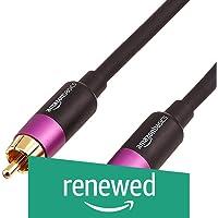(Renewed) AmazonBasics Subwoofer Cable - 8 Feet