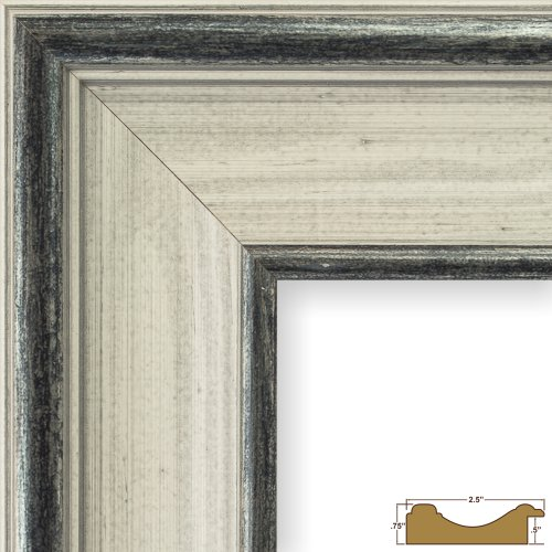 Craig Frames 80614170 24 by 36-Inch Picture Frame, Solid Wood, 2.5-Inch Wide, Light Gray