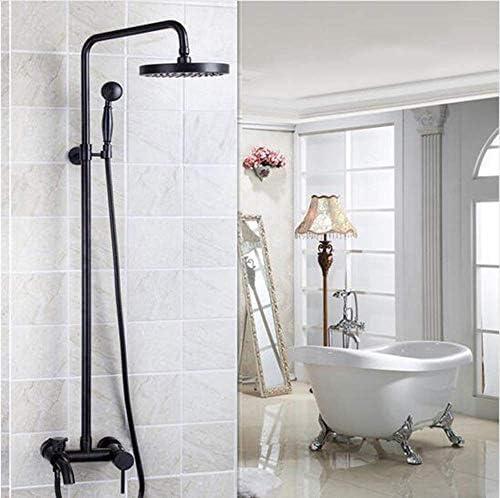 "CHUNSHENN 浴室のシャワー黒いオイルラビングブロンズの壁には、レインフォール蛇口8"" シャワーヘッドミキサー水タップセットシャワーマウント バス用品"