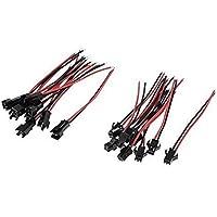 VIPMOON 20 Pairs SM 2Pin Plug Man-vrouw EL Draad Kabel Connector Adapter voor 3528 5050 LED Light Strip