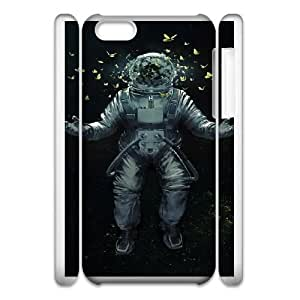 Protection Cover iphone5c 3D Cell Phone Case White Xtcyy Astronaut Durable Rubber Cases
