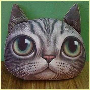 Amazon.com: HuaYang elegante gato forma de cabeza almohada ...